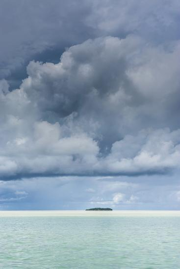 Dramatic Sky over a Little Island in the Rock Islands, Palau, Central Pacific-Michael Runkel-Photographic Print