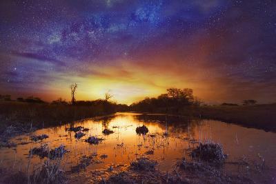 Dramatic Sky with Milky Way-Matthew Hood-Photographic Print