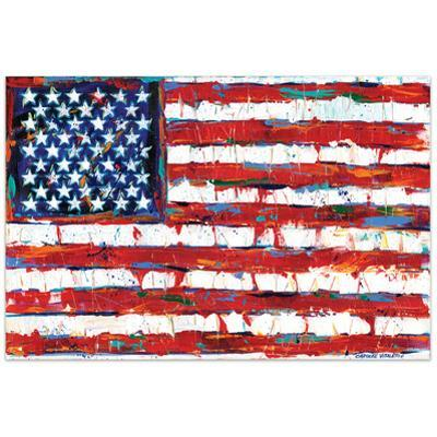 Dramatic Stars & Stripes - Free Floating Tempered Glass Wall Art