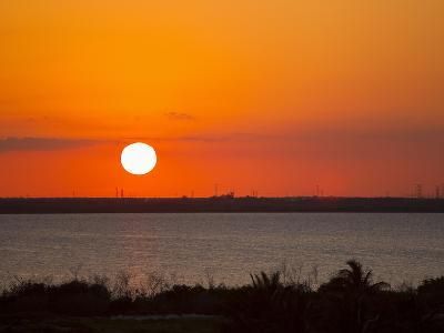 Dramatic Sunset over the Mainland in Cancun, Mexico-Mike Theiss-Photographic Print