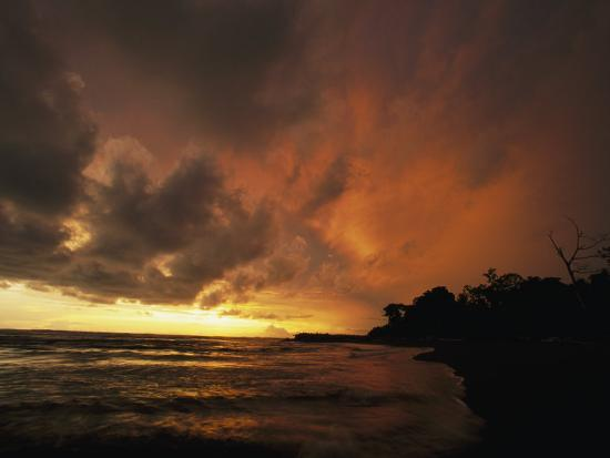 Dramatic View of the Pacific Ocean at Sunset on the Osa Peninsula-Steve Winter-Photographic Print