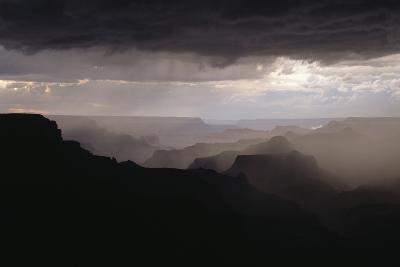 Dramatic Weather over the Grand Canyon, Yaki Point, Arizona-Greg Probst-Photographic Print
