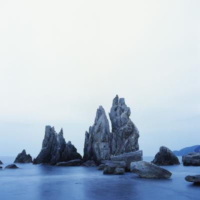 Dramatically Shaped Sea Stacks in Ocean-Micha Pawlitzki-Photographic Print