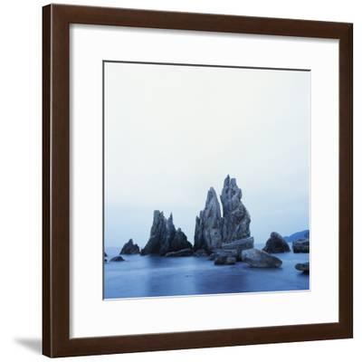 Dramatically Shaped Sea Stacks in Ocean-Micha Pawlitzki-Framed Photographic Print