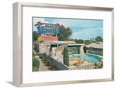Draney's Motel and Pool--Framed Art Print