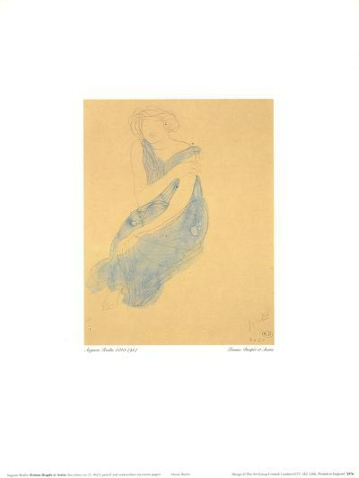 Draped Seated Woman-Auguste Rodin-Art Print