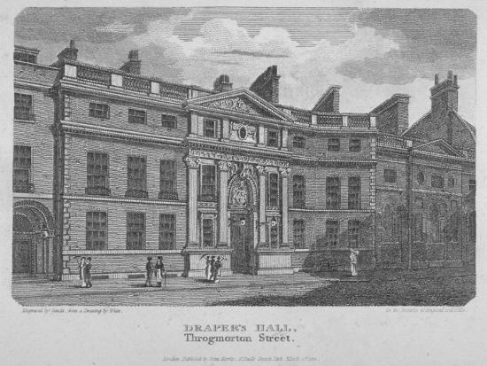 Drapers' Hall, Throgmorton Street, City of London, 1812-Robert Sands-Giclee Print