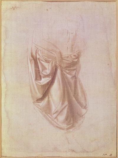 Drapery Study-Leonardo da Vinci-Giclee Print