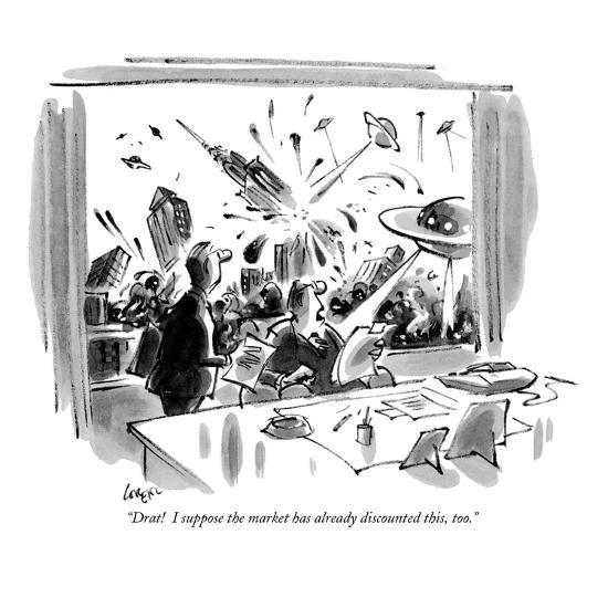 """""""Drat!  I suppose the market has already discounted this, too."""" - New Yorker Cartoon-Lee Lorenz-Premium Giclee Print"""