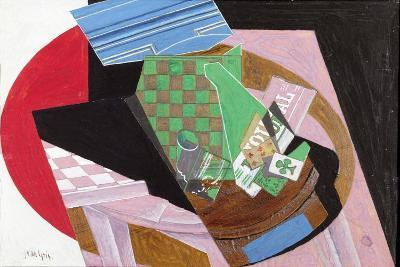Draughtboard and Playing Cards-Juan Gris-Giclee Print