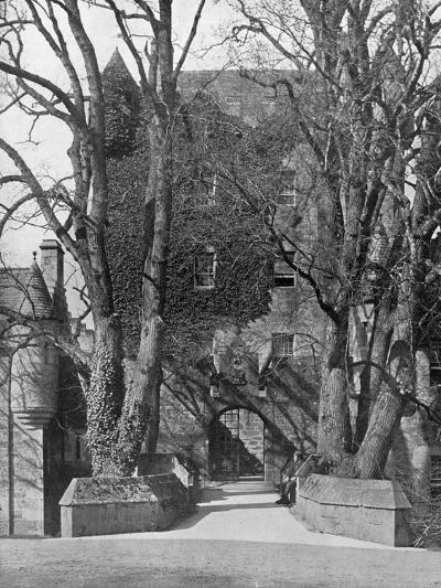 Drawbridge, Cawdor Castle, Scotland, 1924-1926-Valentine & Sons-Giclee Print