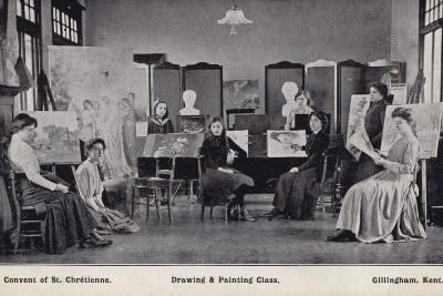 Drawing and Painting Class, Convent of St Chretienne, Gillingham Kent--Photographic Print