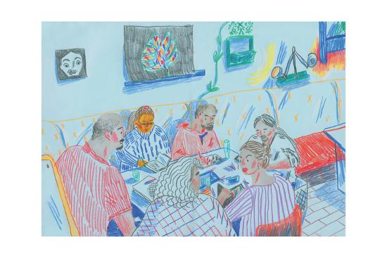 Drawing Club-Sol Jeong-Giclee Print