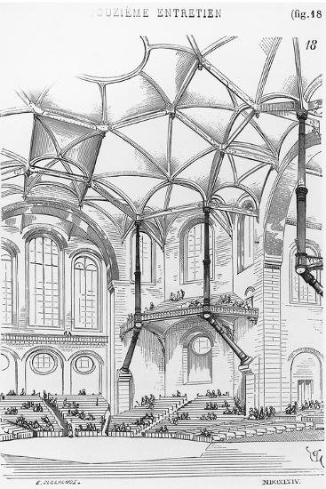 Drawing for Concert Hall--Giclee Print