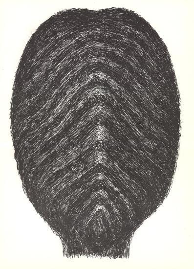 Drawing for head-Rodolphe Raoul Ubac-Art Print