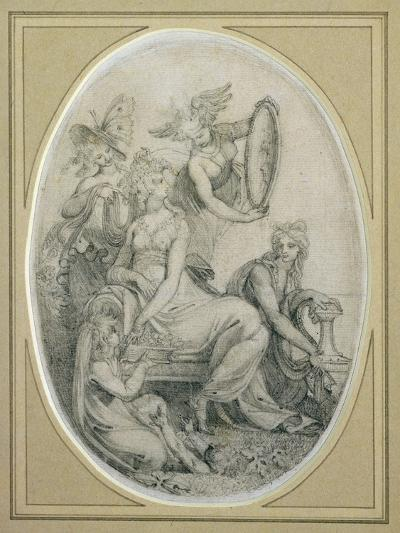 Drawing for the Frontispiece of 'The Botanic Garden', by Erasmus Darwin (1731-1802)-Henry Fuseli-Giclee Print