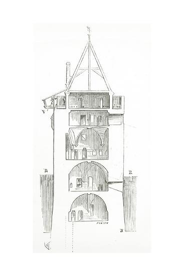 Drawing from 'Dictionnaire Raisonn? De L'Architecture Fran?aise Du XIe Au XVIe Si?cle', 1861--Giclee Print