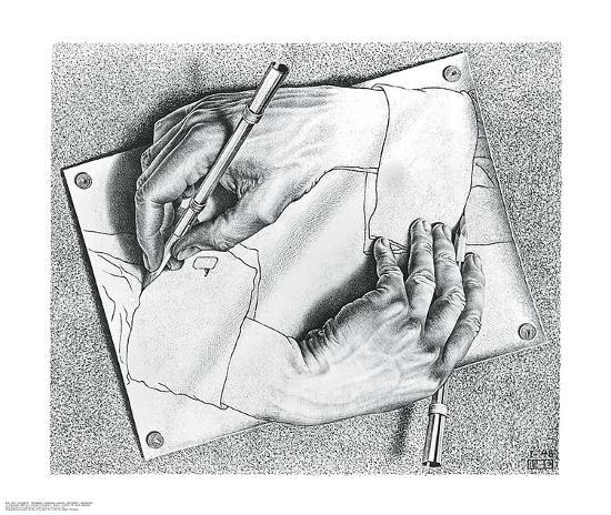 Drawing Hands-M^ C^ Escher-Art Print