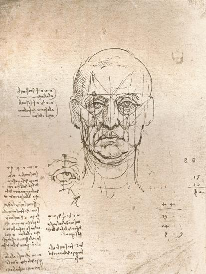 Drawing illustrating the theory of the proportions in the human figure, c1472-c1519 (1883)-Leonardo da Vinci-Giclee Print