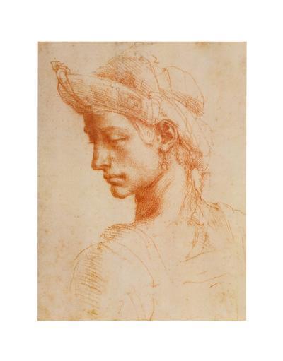 Drawing of a Woman-Michelangelo Buonarroti-Art Print