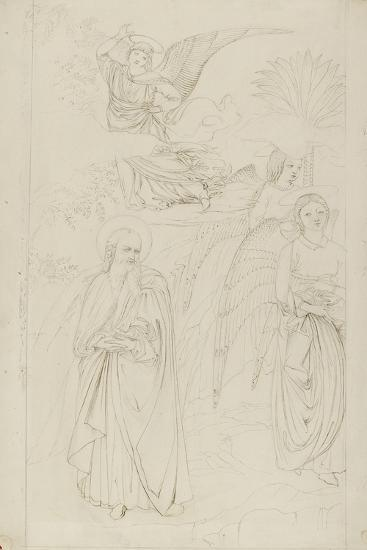 Drawing of Abraham Parting from the Angels from Benozzo Gozzoli's Story of Abraham and Hagar in the-John Ruskin-Giclee Print