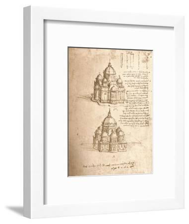 Drawing of churches, c1472-c1519 (1883)-Leonardo da Vinci-Framed Giclee Print