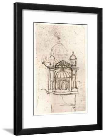 Drawing of ecclesiastical architecture, c1472-c1519 (1883)-Leonardo da Vinci-Framed Giclee Print