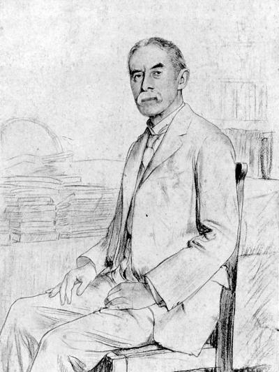 Drawing of English Scholar and Poet A. E. Housman--Premium Photographic Print