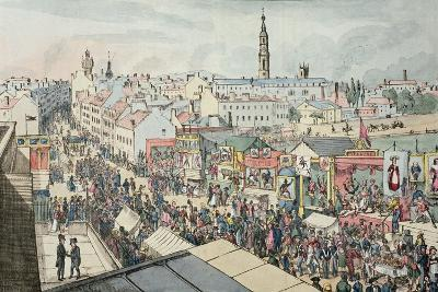 Drawing of Glasgow Fair, from 'The Glasgow Looking Glass', 1825- Scottish School-Giclee Print