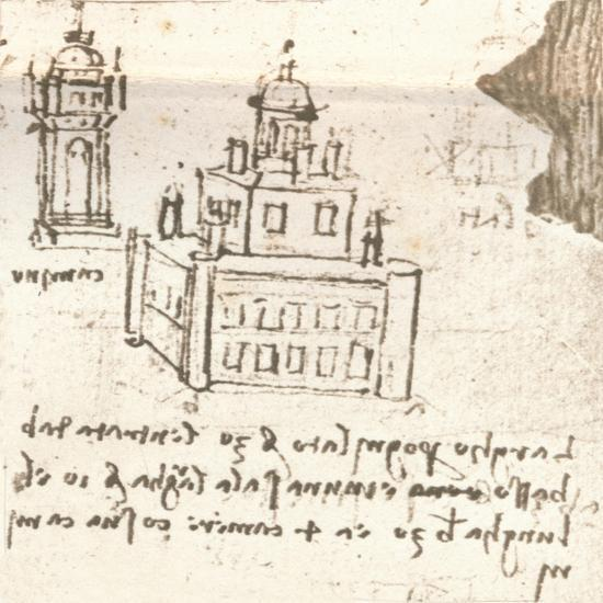 Drawing of projects for castles and villas, c1472-c1519 (1883)-Leonardo da Vinci-Giclee Print