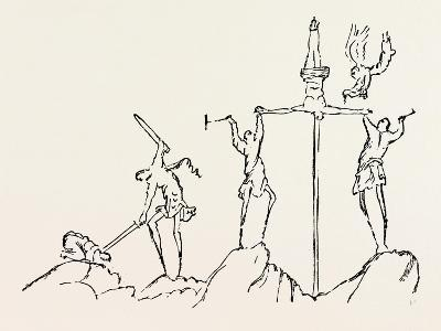 Drawing of the Crucifixion--Giclee Print