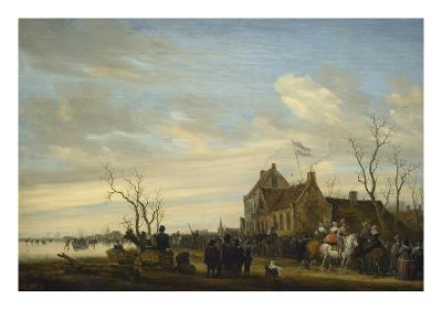 Drawing of the Eel-Salomon van Ruysdael-Art Print