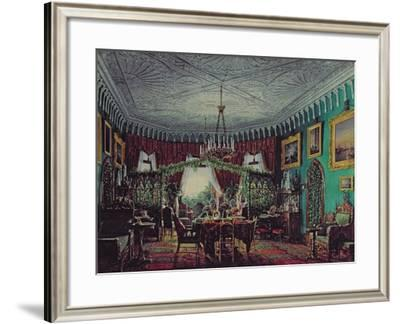Drawing Room of Empress Alexandra Feodorovna-Eduard Hau-Framed Giclee Print