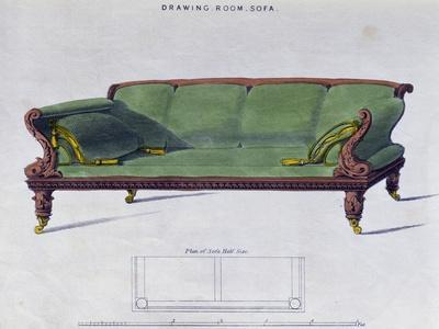 Superieur Drawing Room Sofa By George Smith From Cabinet Maker And Upholstereru0027s  Guide Giclee Print By | Art.com