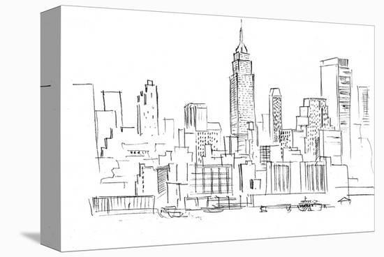 Drawing Skyscrapers New York--Stretched Canvas Print