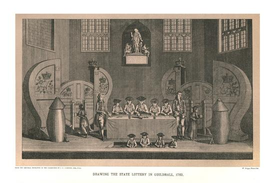 Drawing the State Lottery, 1763, (1886)-Unknown-Giclee Print