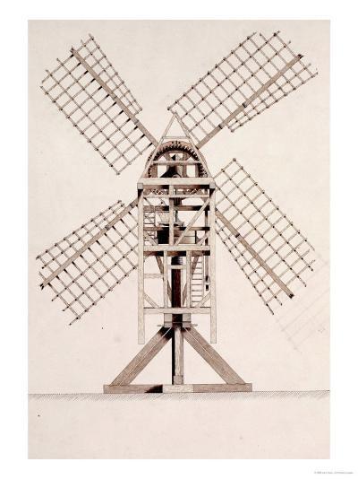 Drawings for Windmills, Dated 1814-17-John Farey, Jr-Giclee Print
