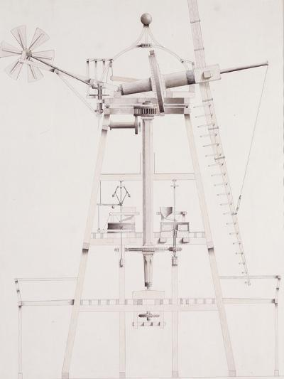 Drawings for Windmills, Dated 1814-17-John Farey, Jr-Giclee Print