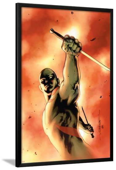 Drax The Destroyer No.3 Cover: Drax The Destroyer Fighting-Mitchell Breitweiser-Lamina Framed Poster