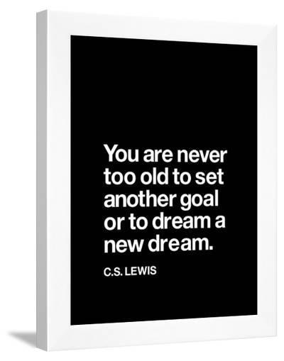 Dream a New Dream (C.S. Lewis)--Framed Art Print
