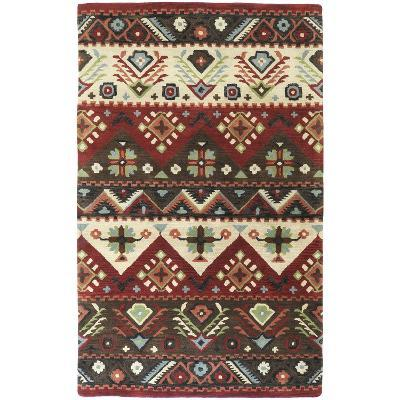 Dream Area Rug - Burgundy/Olive 5' x 8'--Home Accessories