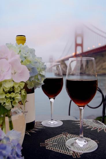 Dream Cafe Golden Gate Bridge #14-Alan Blaustein-Photographic Print