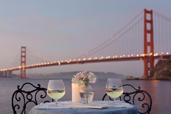 Dream Cafe Golden Gate Bridge #77-Alan Blaustein-Photographic Print