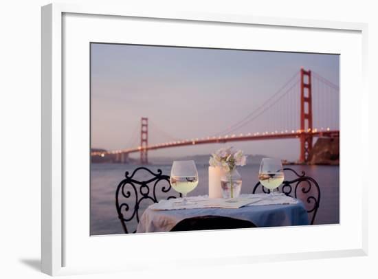Dream Cafe Golden Gate Bridge #78-Alan Blaustein-Framed Photographic Print
