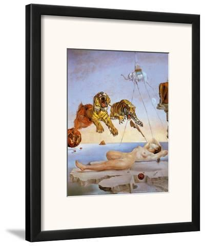 Dream Caused by the Flight of a Bee a Second Before Awakening-Salvador Dal?-Framed Art Print