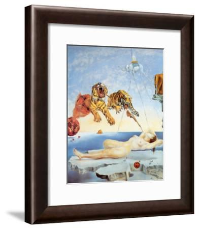 Dream Caused by the Flight of a Bee around a Pomegranate, c. 1944-Salvador Dalí-Framed Art Print