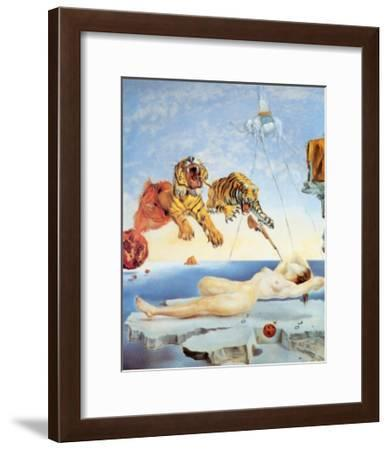 Dream Caused by the Flight of a Bee around a Pomegranate, c. 1944-Salvador Dal?-Framed Art Print