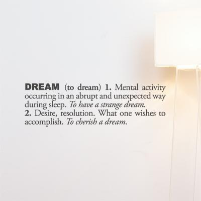Dream (english) Wall Decal--Wall Decal