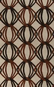 Dream Loops Area Rug - Rust/Chocolate 5' x 8'