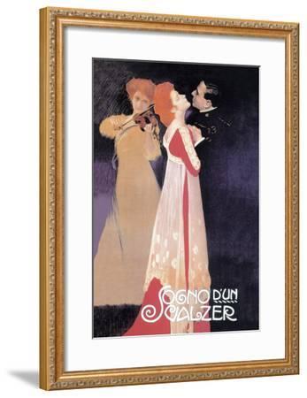 Dream of a Waltz-Leopoldo Metlicovitz-Framed Art Print